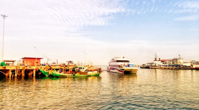 Lomprayah Fähre am Nathon Pier auf Koh Samui